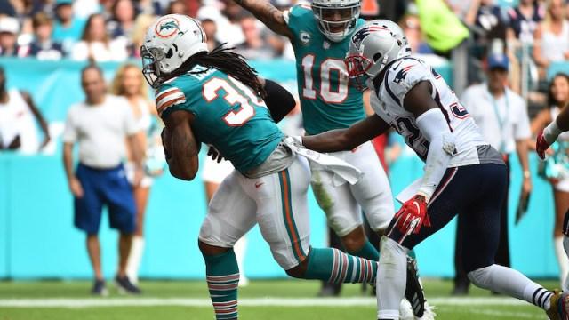 Dolphins running back Brandon Bolden