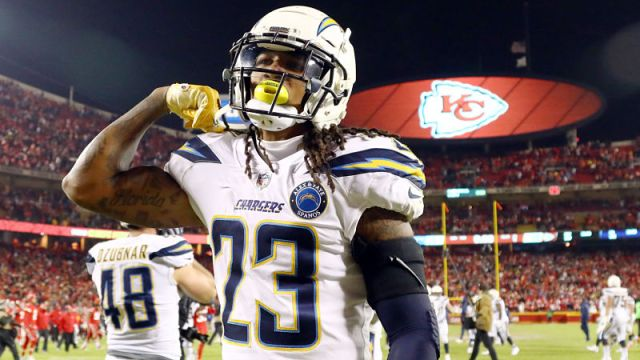 Los Angeles Chargers safety Rayshawn Jenkins