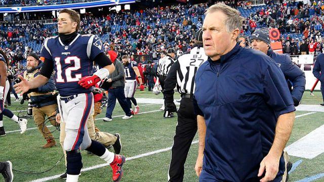 New England Patriots quarterback Tom Brady and Bill Belichick