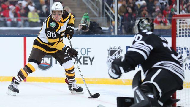 Boston Bruins winger David Pastrnak