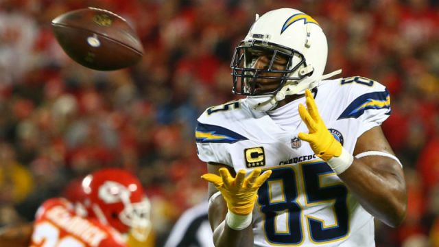 Los Angeles Chargers tight end Antonio Gates