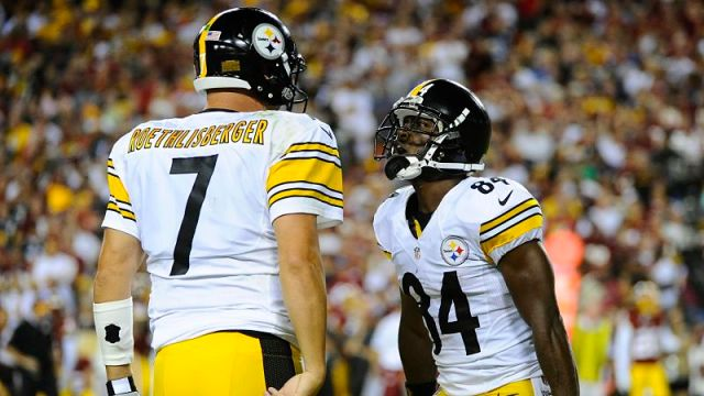 Pittsburgh Steelers quarterback Ben Roethlisberger and wide receiver Antonio Brown