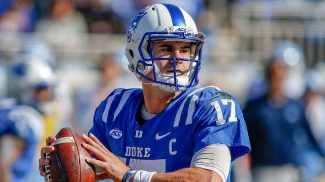 Duke quarterback Daniel Jones