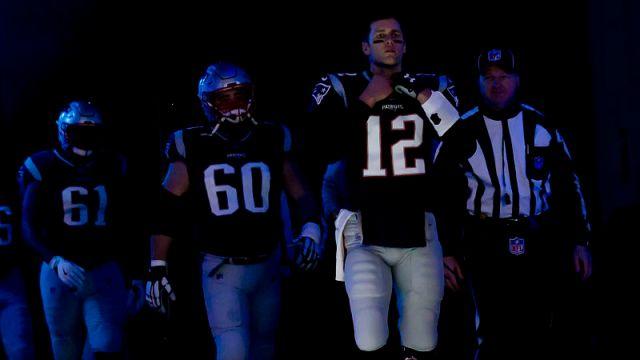 New England Patriots center David Andrews and quarterback Tom Brady