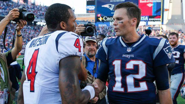 Houston Texans quarterback Tom Brady and New England Patriots quarterback Tom Brady