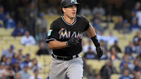 Miami Marlins catcher J.T. Realmuto