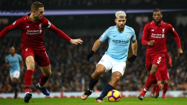 Liverpool's Jordan Henderson and Georginio Wijnaldum