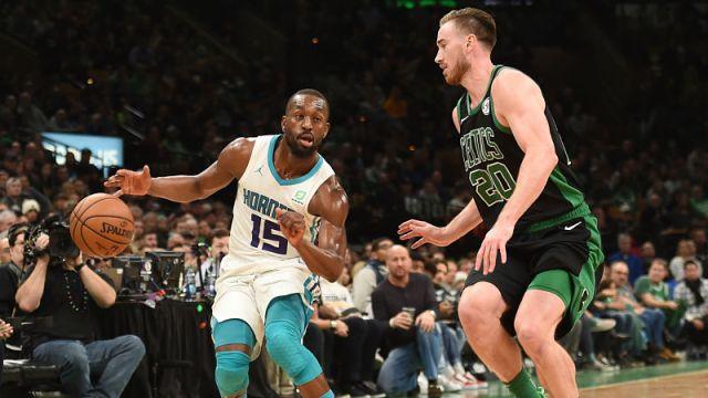 Charlotte Hornets guard Kemba Walker and Boston Celtics forward Gordon Hayward