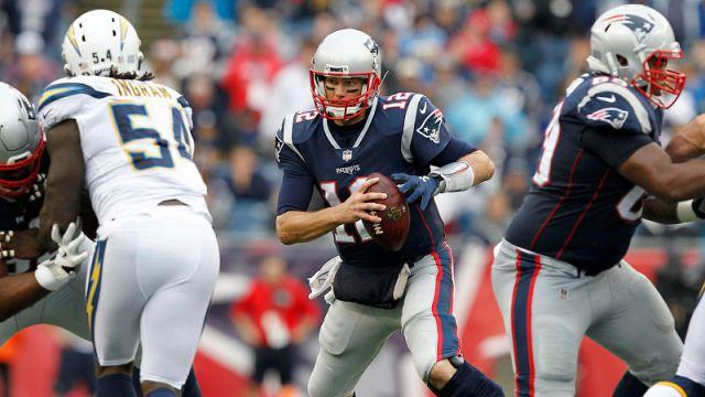 Los Angeles Chargers linebacker Melvin Ingram and New England Patriots quarterback Tom Brady
