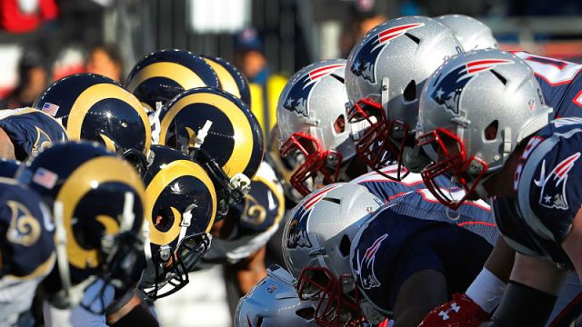 Los Angeles Rams and New England Patriots