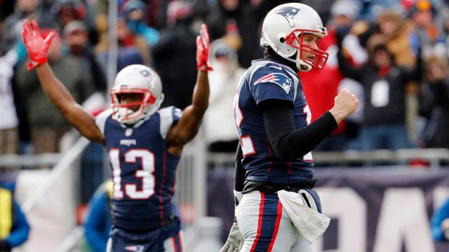 New England Patriots quarterback Tom Brady and wide receiver Phillip Dorsett