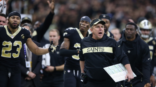 New Orleans Saints head coach Sean Payton (right)