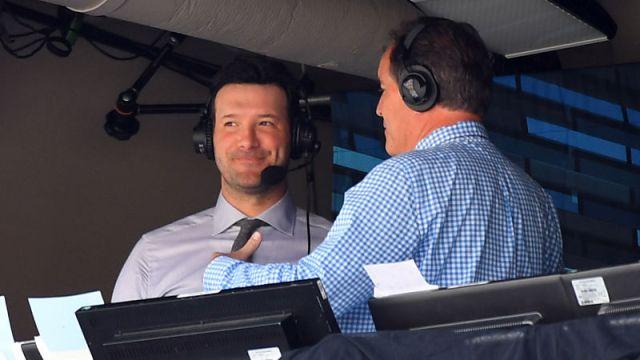 CBS Broadcaster's Tony Romo, Jim Nantz