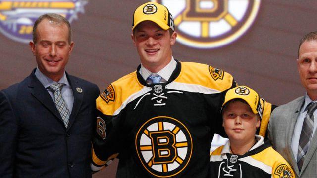 Boston Bruins center Trent Frederic