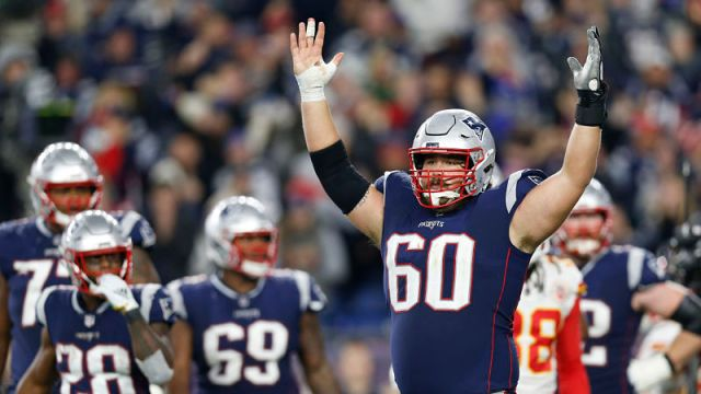 New England Patriots center David Andrews