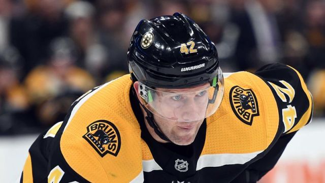 Boston Bruins winger David Backes