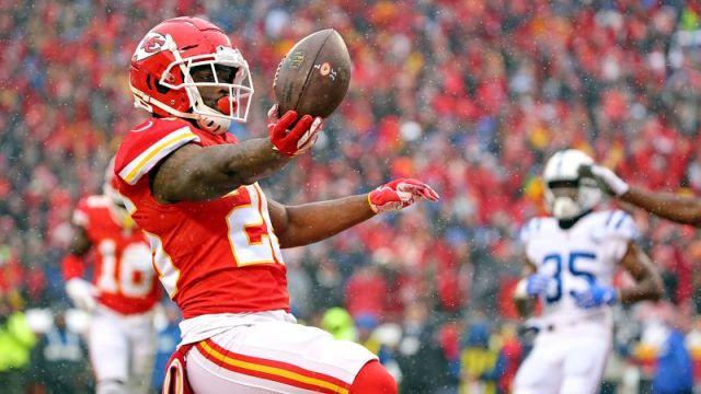 Kansas City Chiefs running back Damien Williams