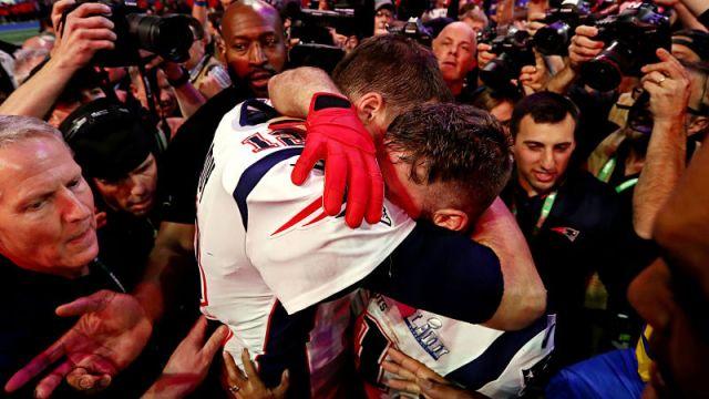 Patriots quarterback Tom Brady, receiver Julian Edelman