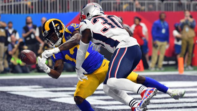 Los Angeles Rams wide receiver Brandin Cooks and New England Patriots cornerback Jason McCourty