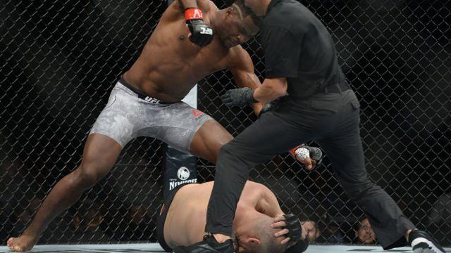 UFC fighters Cain Velasquez and Francis Ngannou