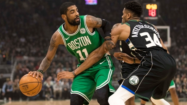 Celtics guard Kyrie Irving, Bucks forward Giannis Antetokounmpo