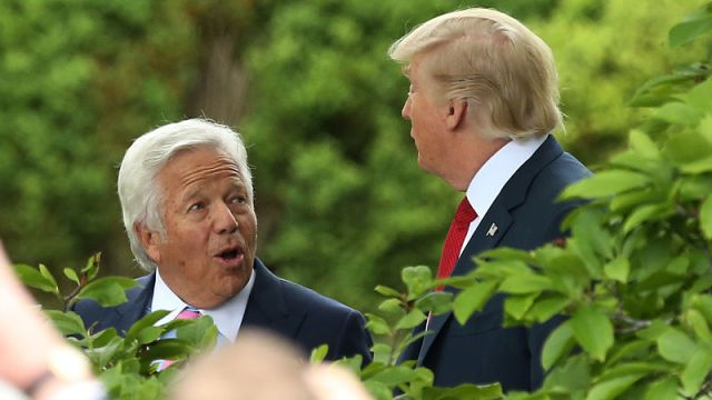 New England Patriots owner Robert Kraft and President of the United States Donald Trump