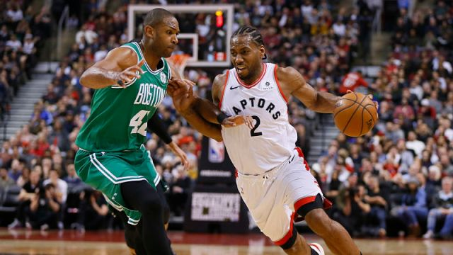 Boston Celtics center Al Horford, Toronto Raptors forward Kawhi Leonard