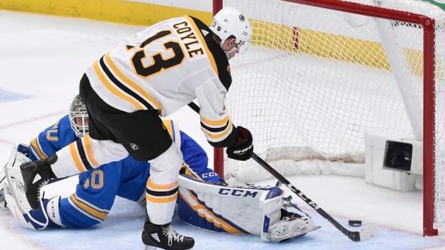 Boston Bruins' center Charlie Coyle