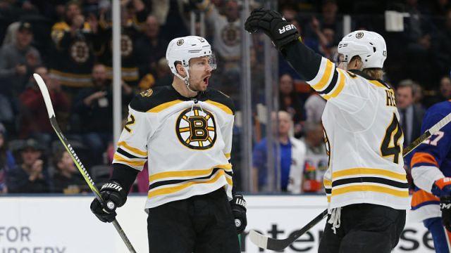 Boston Bruins forward Danton Heinen