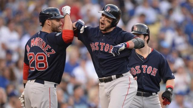 Boston Red Sox's J.D. Martinez And Steve Pearce