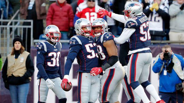 New England Patriots linebacker Kyle Van Noy and Trey Flowers