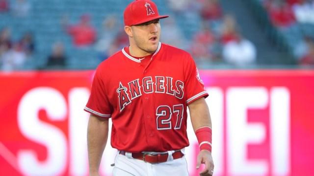 LA Angels center fielder Mike Trout