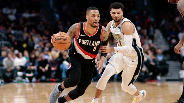 Portland Trail Blazers guard Damian Lillard and Denver Nuggets guard Jamal Murray