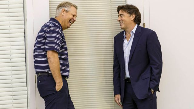 Boston Celtics president of basketball operations Danny Ainge and owner Wyc Grousbeck