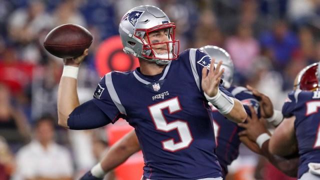 Patriots quarterback Danny Etling
