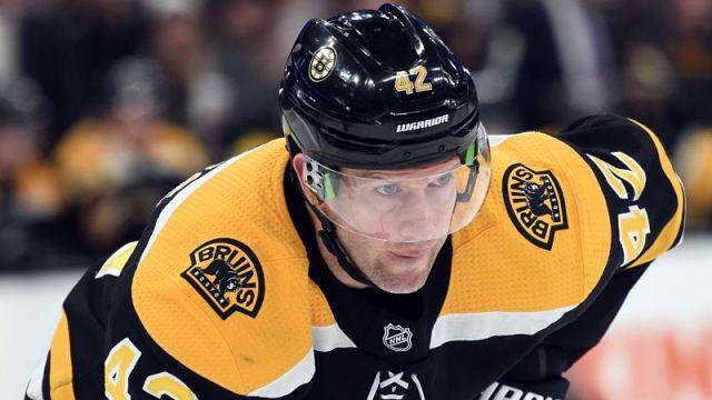 Boston Bruins forward David Backes