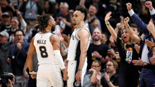 San Antonio Spurs' Patty Mills And Derrick White