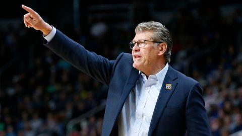UConn Women's Basketball coach Geno Auriemma