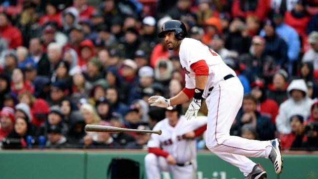 Boston Red Sox left fielder J.D. Martinez (28)