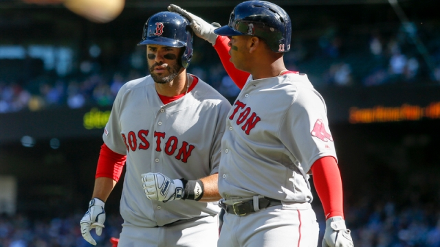 Boston Red Sox's J.D. Martinez And Rafael Devers