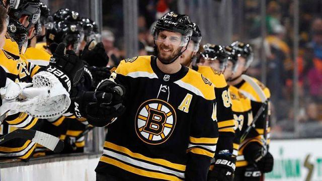 Boston Bruins forward David Krejci