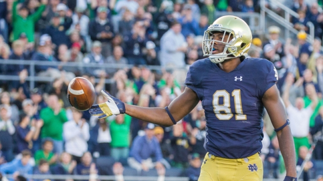 Notre Dame wide receiver Miles Boykin