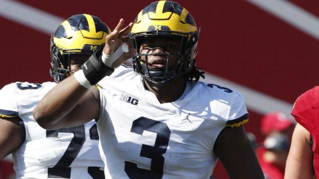 Michigan Wolverines defensive linemen Rashan Gary