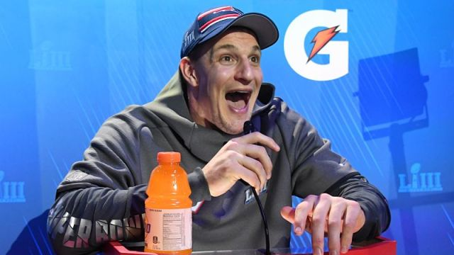 New England Patriots tight end Rob Gronkowski