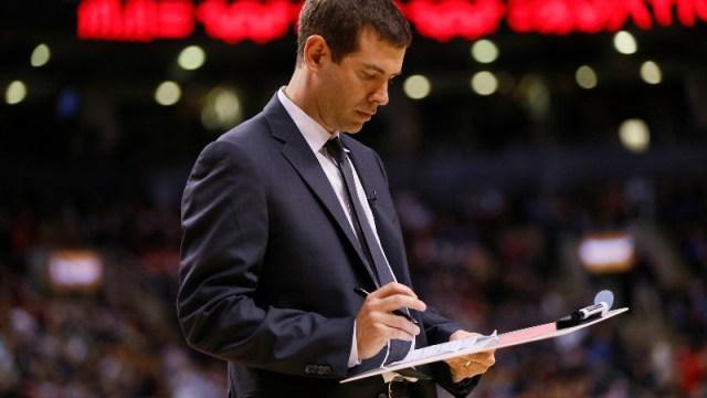 oston Celtics head coach Brad Stevens