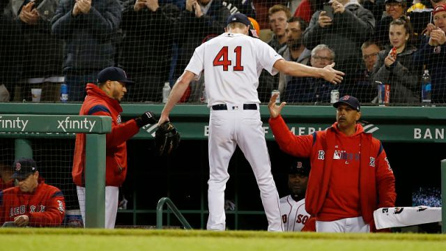 Boston Red Sox's Chris Sale And Alex Cora