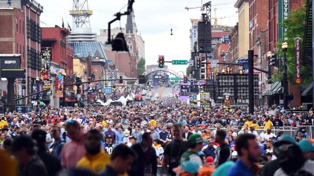 2019 NFL Draft fans in Downtown Nashville