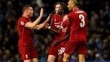 Liverpool's James Milner (left), Andy Robertson, Sadio Mane (10) and Fabinho (3)