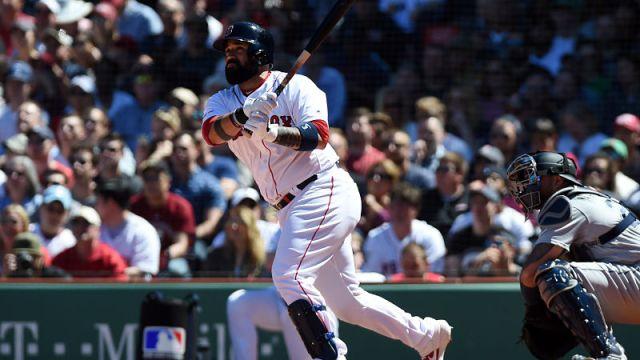 Boston Red Sox catcher Sandy Leon
