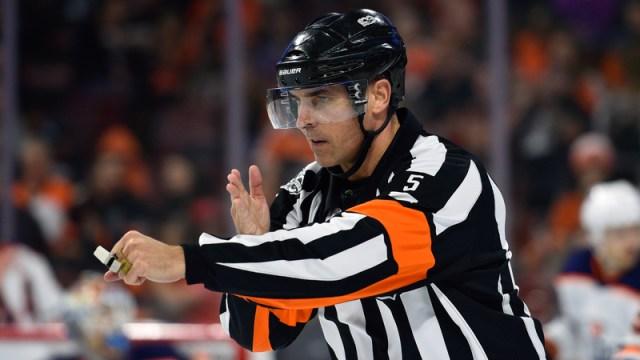 NHL Referee Chris Rooney